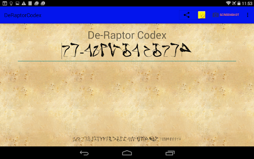 De-Raptor Codex- screenshot thumbnail