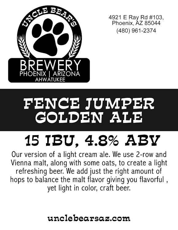 Logo of Uncle Bear's Fence Jumper Golden Ale