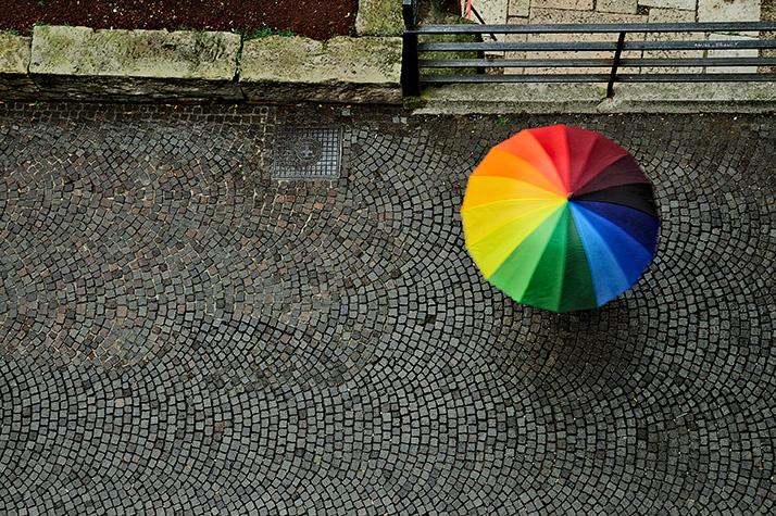 A colorfull umbrella di oizes