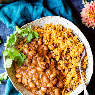 Mom's Authentic Puerto Rican Rice and Beans.