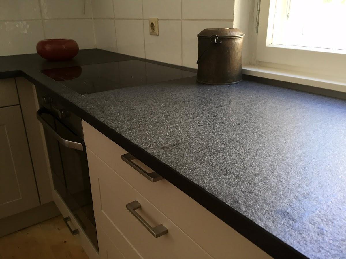 Kuchenarbeitsplatte Granit Nero Assoluto Antik Arbeitsplatte Kucheninsel Kuche Ebay