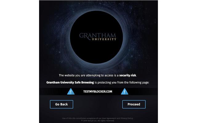 Grantham University Safe Browsing
