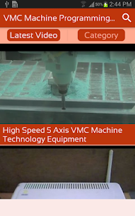 VMC Machine Programming & Operating Videos App - náhled