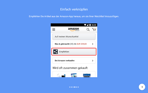 Preisalarm für Amazon Screenshot