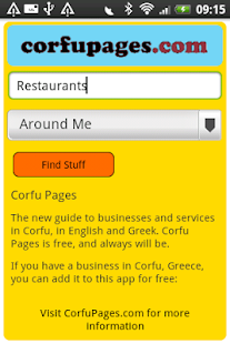 Corfu Pages- screenshot thumbnail