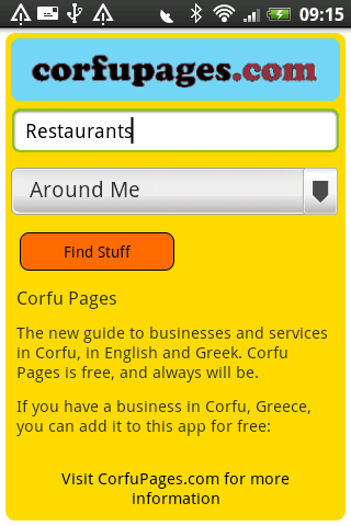 Corfu Pages- screenshot