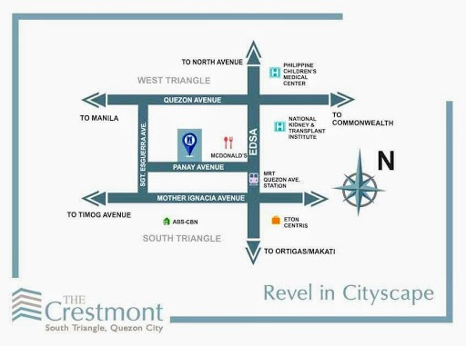 The Cresmont, Panay Avenue, QC location map