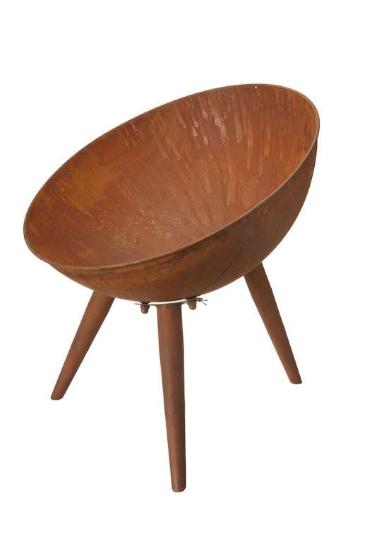 Eldfat rost Lia Wikholmform diameter 50 cm