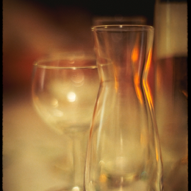 bottle and glass by Annette Flottwell - Artistic Objects Glass ( glass, natural light, bokeh, 55mm, bottle,  )