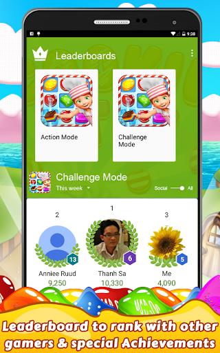 Cookie Star: Sugar cake puzzle match-3 game apktram screenshots 24