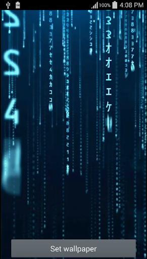 Blue Code Live Wallpaper