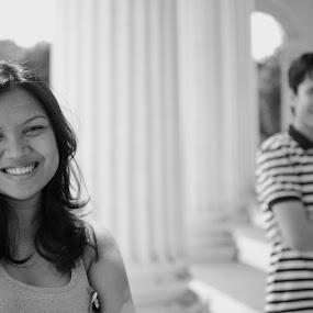 The Couple by Sandip Ghose - People Couples ( kolkata, friends. couple, happy, smile, people )