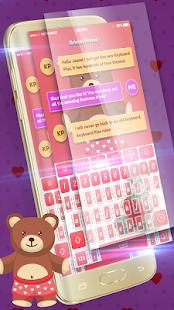 Cute Teddy Bear Keyboard - náhled
