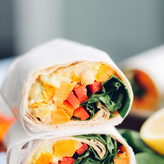 Sweet Potato, Chickpea, and Avocado Power Wrap.