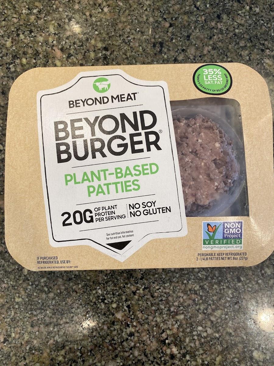Plant based burger patties