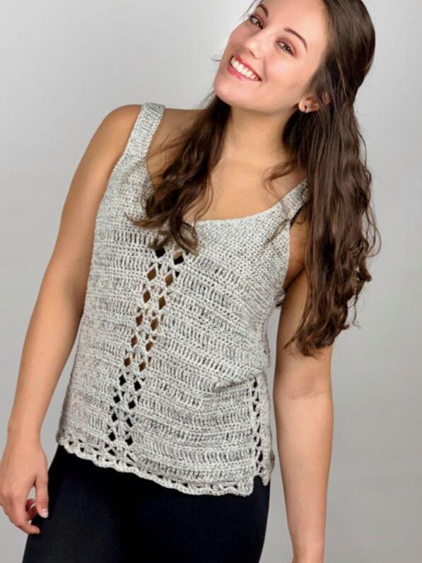 Miami Metallic Tank Top Crochet Pattern