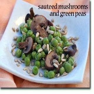 Sautéed Mushrooms with Green Peas