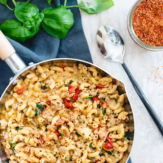 Turkey Skillet Mac and Cheese.