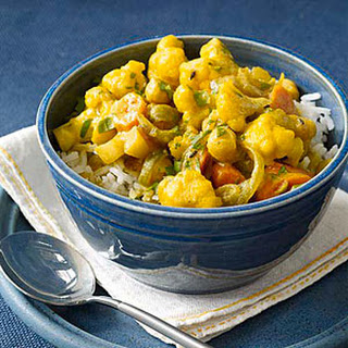 Indian Chickpea-and-Vegetable Stew.