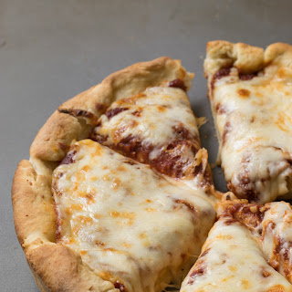 (Easy) Deep-Dish Pizza + Pizza Sauce