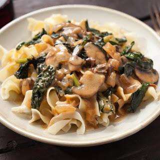 Kale and Mushroom Stroganoff