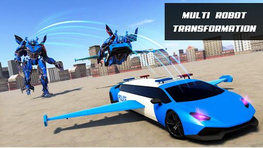 Flying Police Limo Car Robot: flying car games screenshot 6