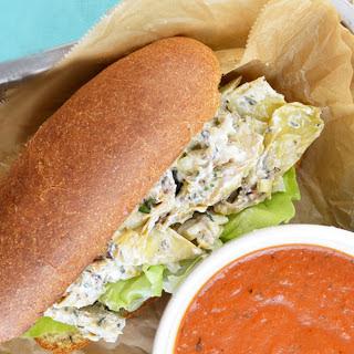 Artichoke 'Lobster' Roll [Vegan].