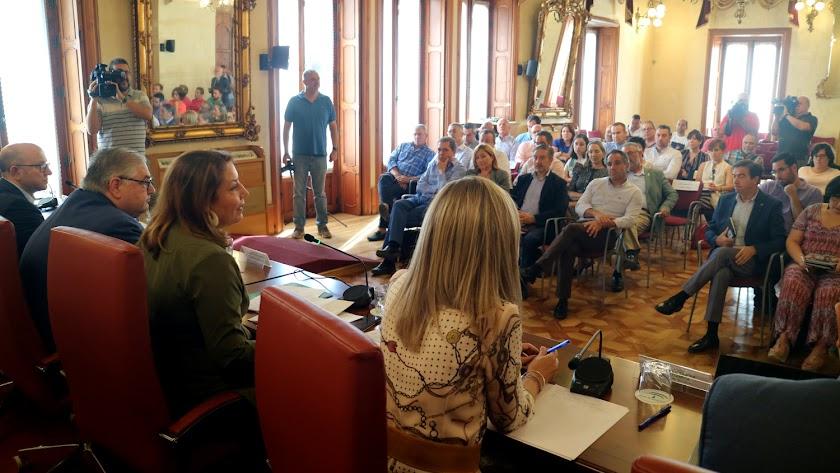 Reunión por la DANA en Almería.