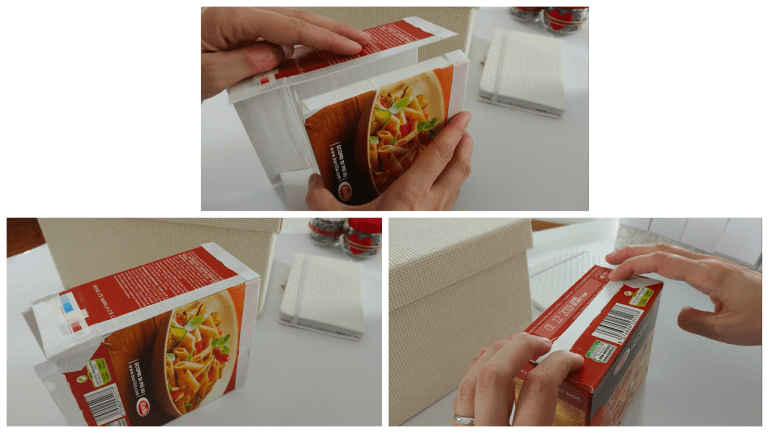 Reassemble the old pasta boxes boxes