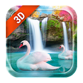 3D Live Wallpaper Waterfall& Swan