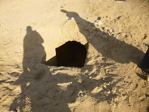 Photo: Looting holes.