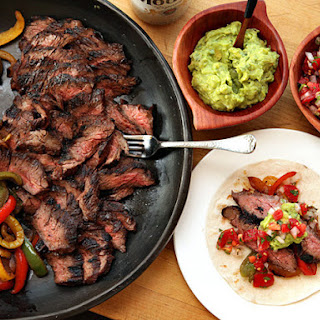Grilled Skirt Steak Fajitas.