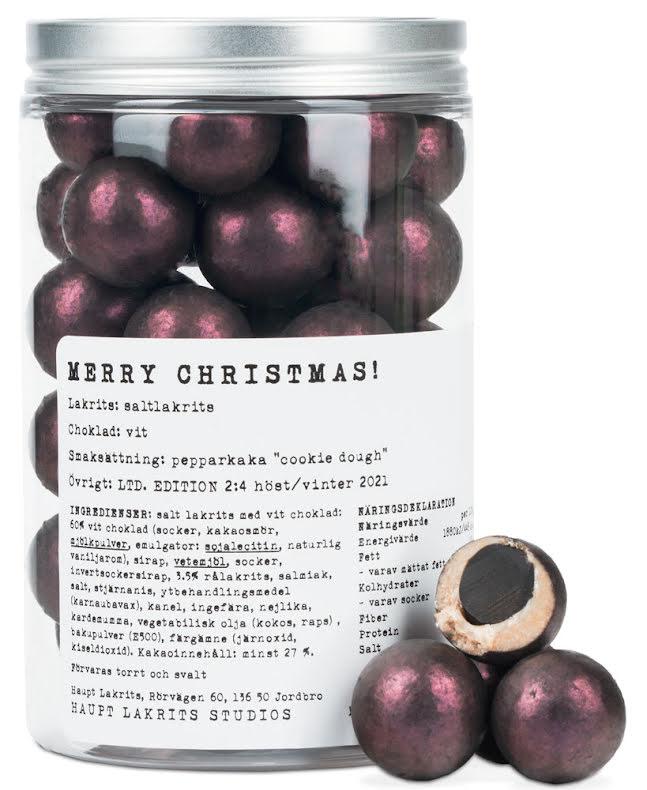 Merry christmas – Saltlakrits, vit choklad & pepparkaksdeg - Haupt Lakrits