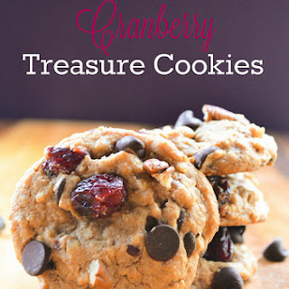 Caramel Chocolate Cranberry Treasure Cookies