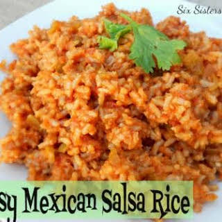 Easy Mexican Salsa Rice.