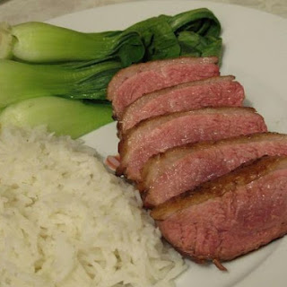 Easy Orange Duck with Pak Choi