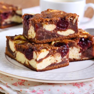 Marbled Cocoa Cherry Cheesecake Brownies.