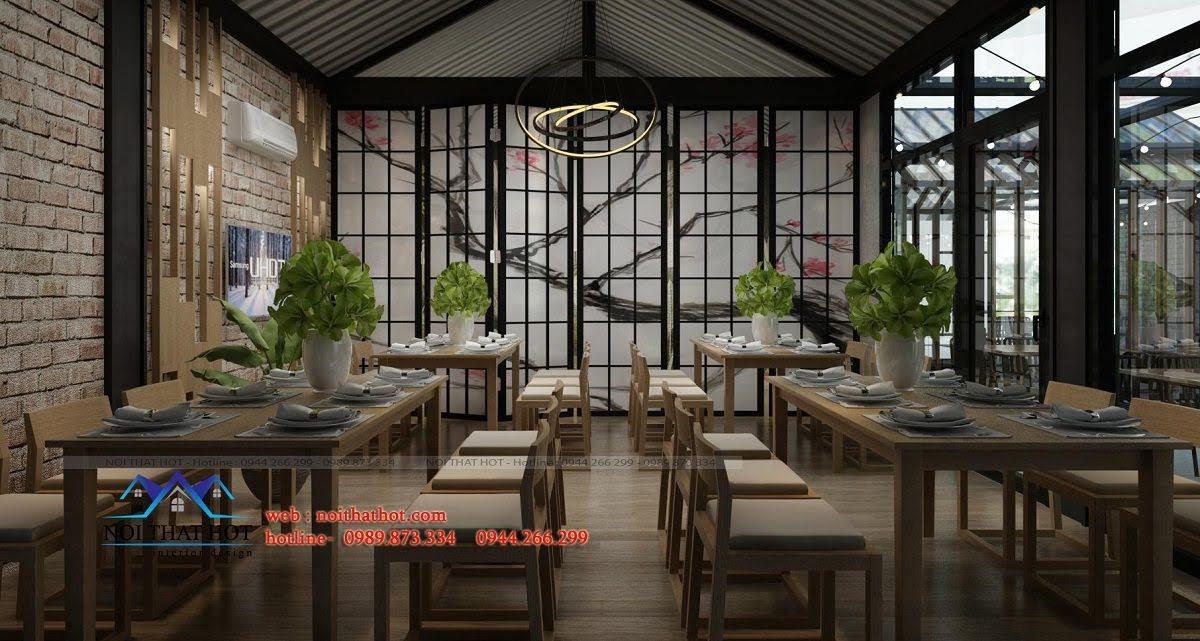 thiết kế nhà hàng công năng cao