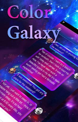 Color Galaxy Emoji Keyboard  screenshots 5