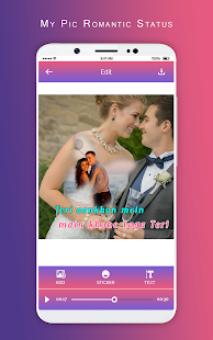 Download MyPic Romantic Lyrical Status Maker With Song For PC Windows and Mac apk screenshot 3