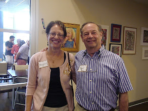 Photo: Margaret and Robert Blume/ 4-21-13 at Les & Sydelle Art exhibit at Weissman Ctr