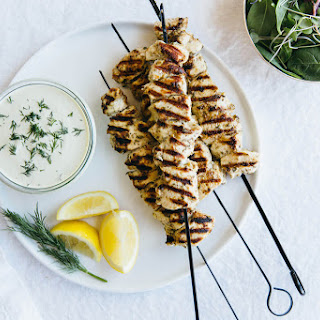 Grilled Chicken Souvlaki with Dairy-Free Tzatziki