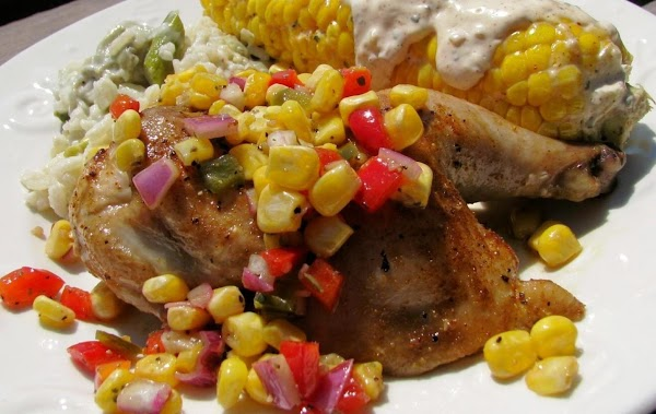 Roasted Game Hens With Sweet Corn Salsa Recipe
