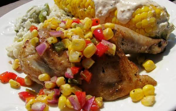 Roasted Game Hens With Sweet Corn Salsa