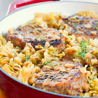 Braised Pork Chops with Cabbage and Apples Recipe