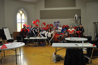 Photo: Class photo! Thank you to Rene Maier of Switzerland for allowing us to use his design. Thank you to Central Church for allowing us to use their hall!