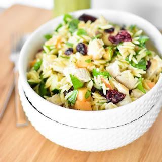 Melon Orzo Salad with Orange Poppyseed Vinaigrette