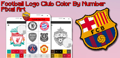 Football Logo Coloring By Number Pixel Art Game Apk Free