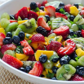 Fruit Salad with Sweet Lime Dressing.
