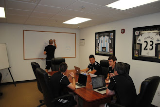 Photo: Conference room for the XL Soccer staff